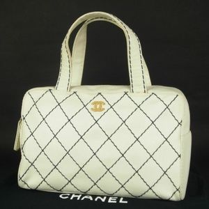Authentic CHANEL CC Coco Wild stitch Quilted bag